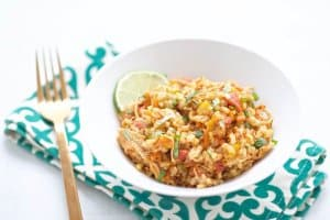This Instant Pot Cilantro Chicken and Rice is a flavorful, easy meal full of great nutrition. Make it early in the day for an instant meal at night.