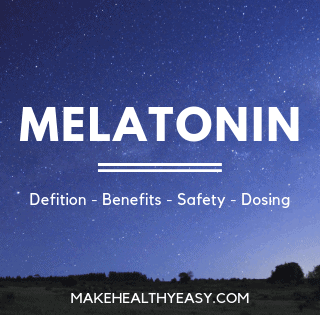 Here's everything you need to know about the sleep aid melatonin including the definition, benefits, safety, food sources, supplement brands, and dosing. #melatonin #sleep #supplments