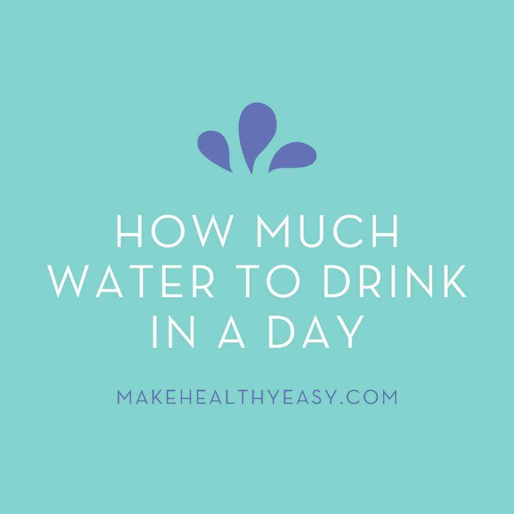 How much water do you need in a day to be healthy? This post breaks it all down for you including why water is important, how much to drink in a day, and how much water is too much. #water #healthy