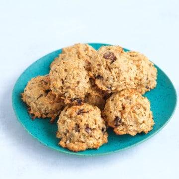 healthy chocolate cherry breakfast cookie