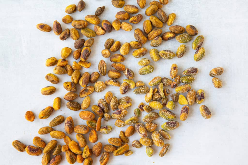healthy hacks for plant based eating - shelled pistachios