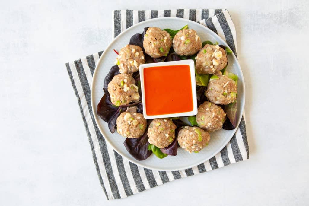 Buffalo Turkey Meatball Appetizer