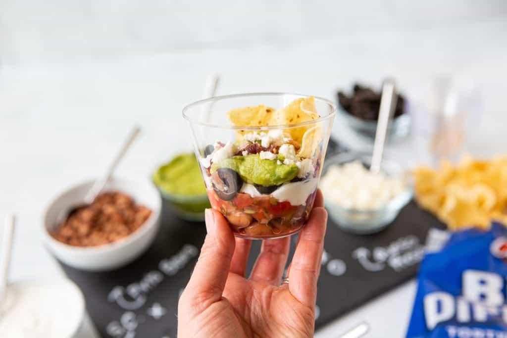 super bowl make ahead appetizers lay dip