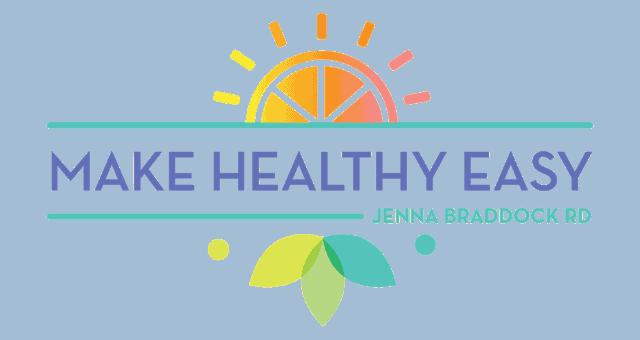 Make Healthy Easy - Jenna Braddock RD logo