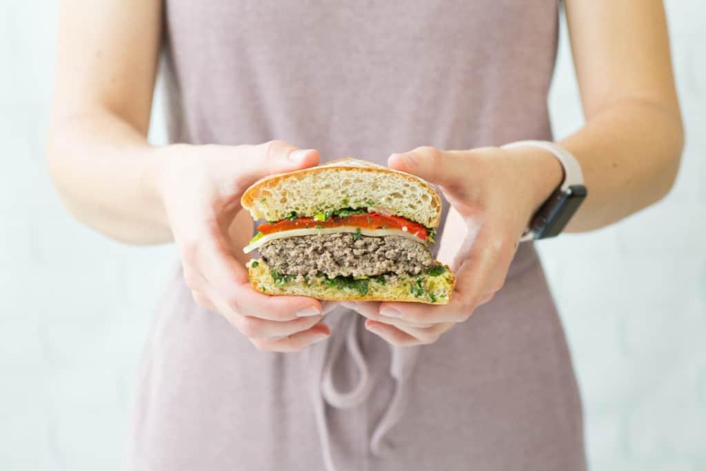 Gourmet burger ideas - chimichurri burger