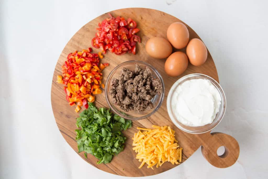 مواد مفید برای تهیه صبحانه - پای پای سوسیس گوشت گاو