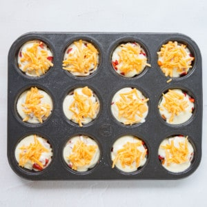 Beef sausage mini breakfast pies ready to bake
