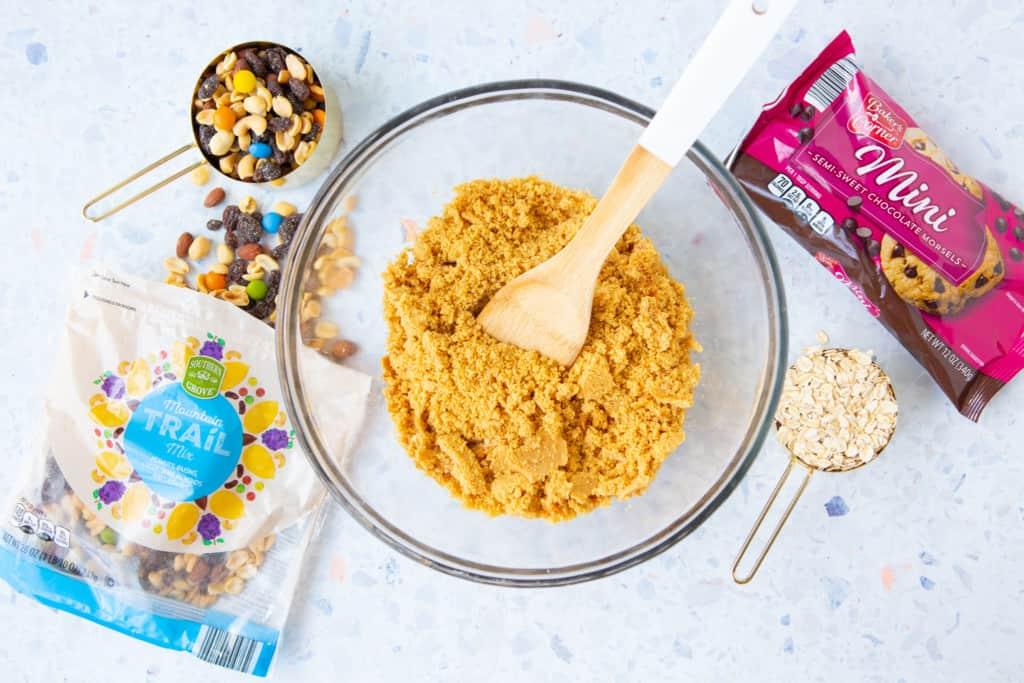 Ingredients in gluten free monster cookie balls