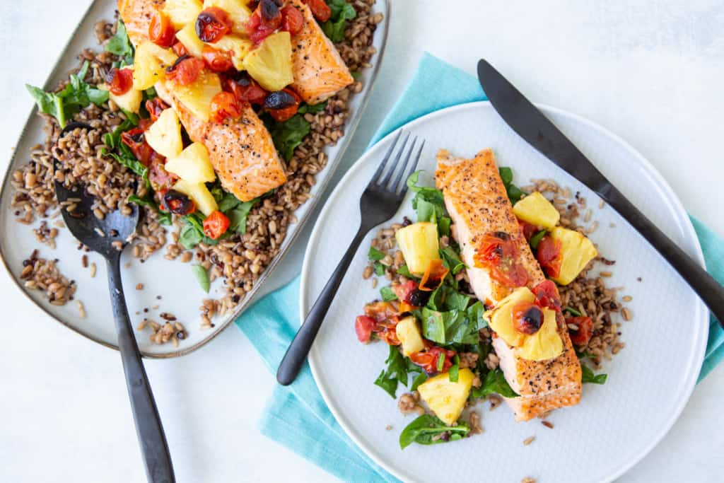 quick and easy meal ideas - sheet pan salmon dinner